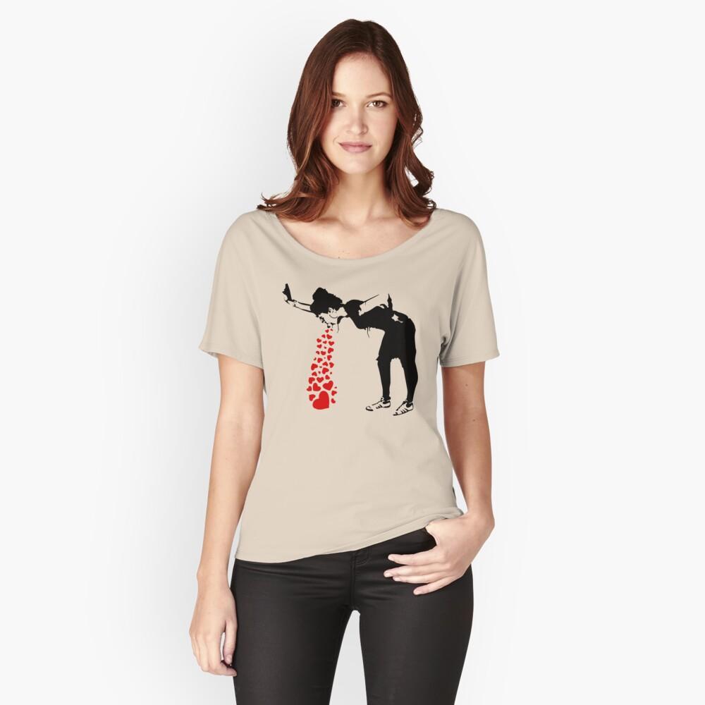 Lovesick - Banksy, Streetart Street Art, Grafitti, Artwork, Design For Men, Women, Kids Relaxed Fit T-Shirt
