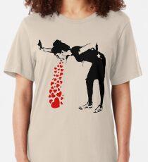 Lovesick - Banksy, Streetart Street Art, Grafitti, Artwork, Design For Men, Women, Kids Slim Fit T-Shirt