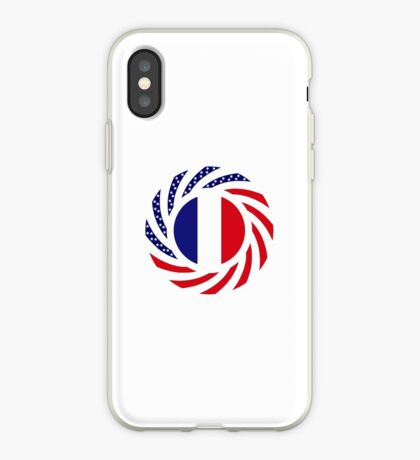 French American Multinational Patriot Flag Series iPhone Case