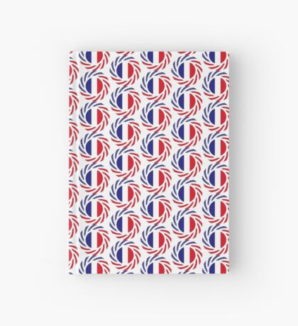 French American Multinational Patriot Flag Series Hardcover Journal