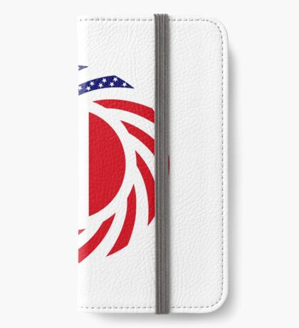 French American Multinational Patriot Flag Series iPhone Wallet
