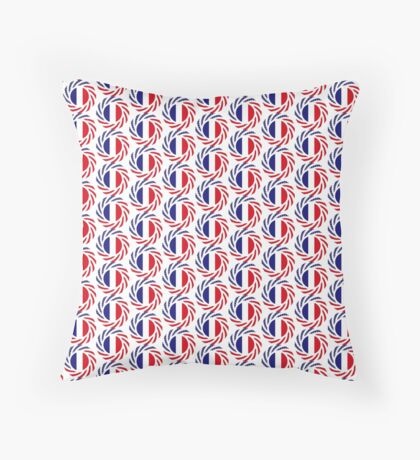 French American Multinational Patriot Flag Series Floor Pillow