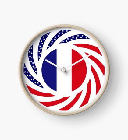 French American Multinational Patriot Flag Series Clock