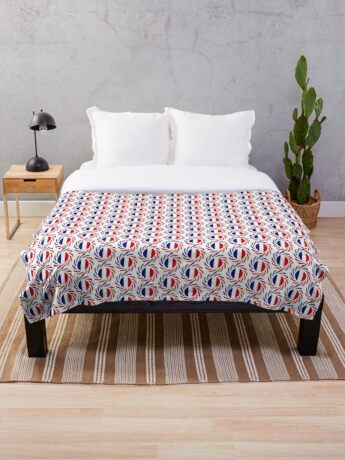 French American Multinational Patriot Flag Series Throw Blanket