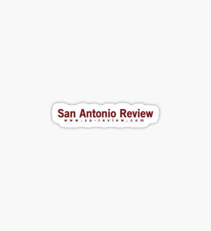 San Antonio Review with URL Sticker
