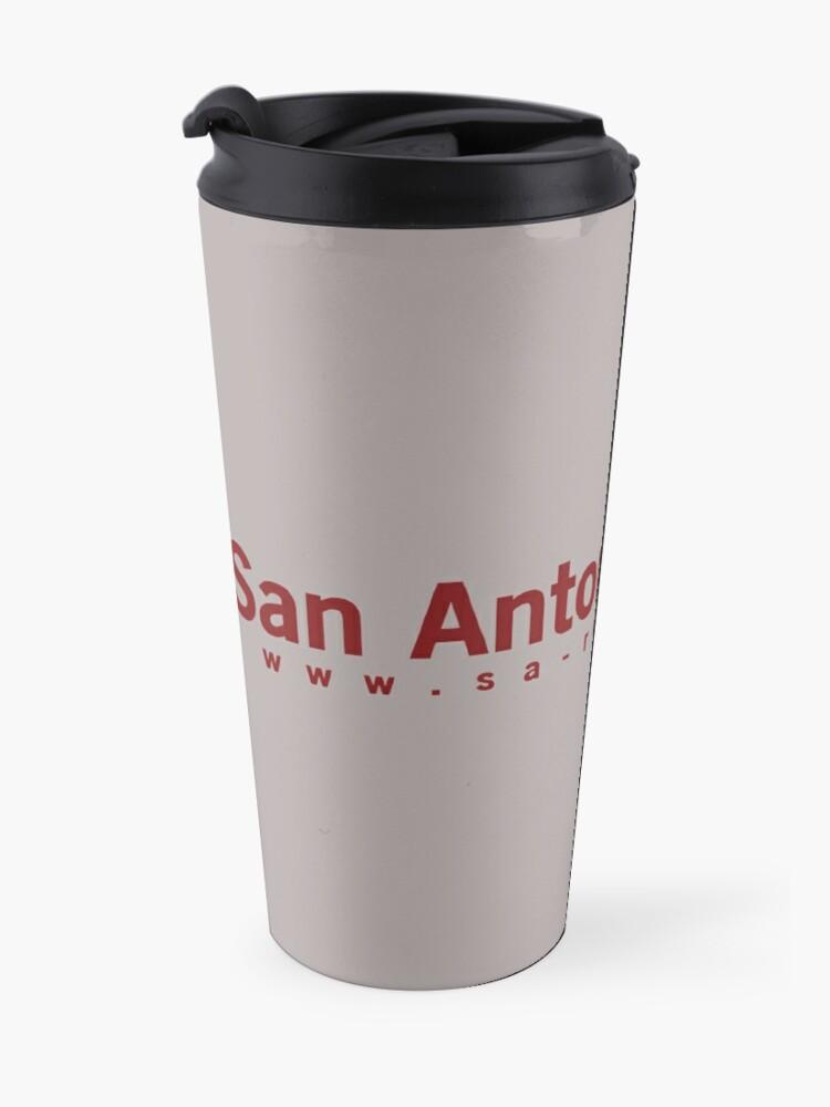 Alternate view of San Antonio Review with URL Travel Mug
