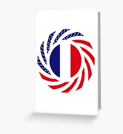 French American Multinational Patriot Flag Series Greeting Card