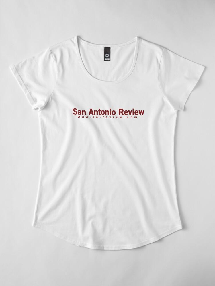 Alternate view of San Antonio Review with URL Premium Scoop T-Shirt