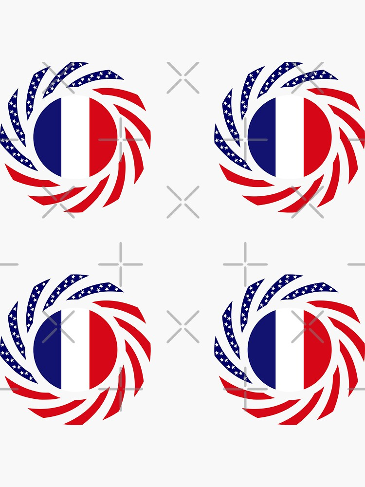 French American Multinational Patriot Flag Series by carbonfibreme