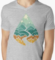 The Road Goes Ever On: Autumn Men's V-Neck T-Shirt