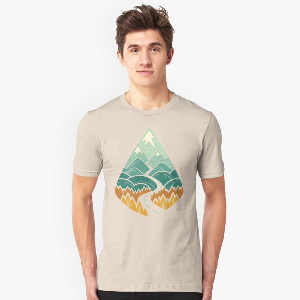 The Road Goes Ever On: Autumn Slim Fit T-Shirt
