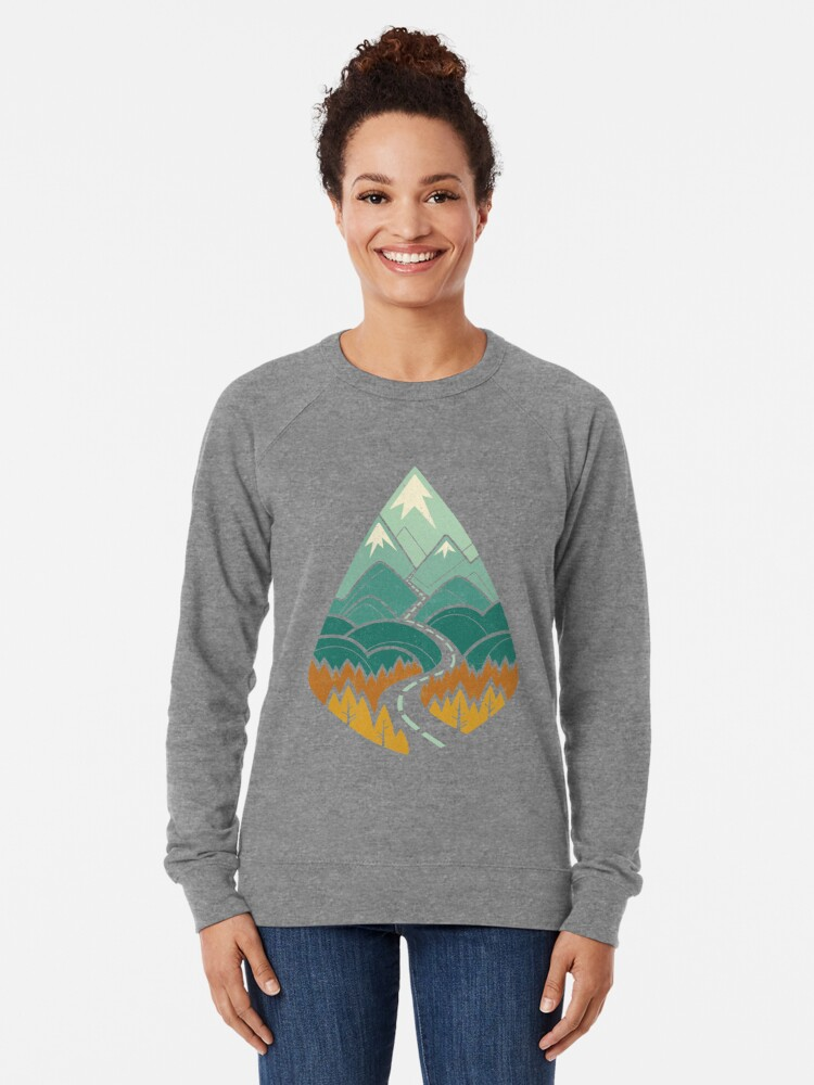 Alternate view of The Road Goes Ever On: Autumn Lightweight Sweatshirt