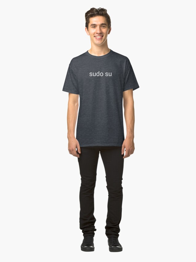 Alternate view of sudo su command Classic T-Shirt