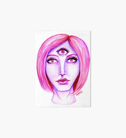 Pink Hair, Purple Skin Art Board Print