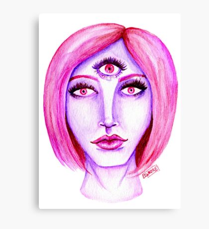 Pink Hair, Purple Skin Canvas Print