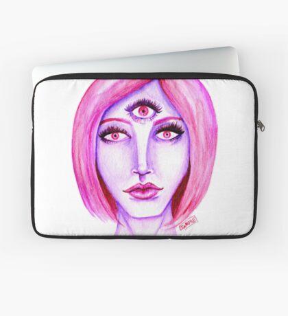 Pink Hair, Purple Skin Laptop Sleeve