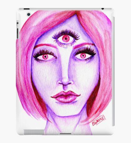 Pink Hair, Purple Skin iPad Case/Skin