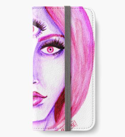 Pink Hair, Purple Skin iPhone Wallet