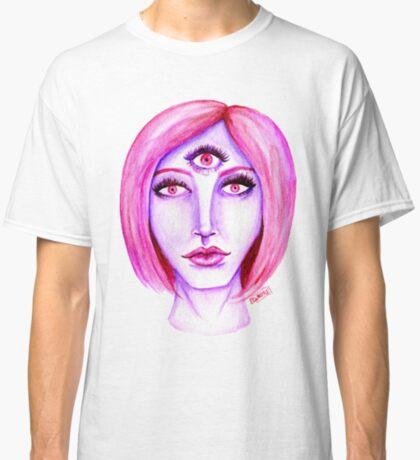 Pink Hair, Purple Skin Classic T-Shirt