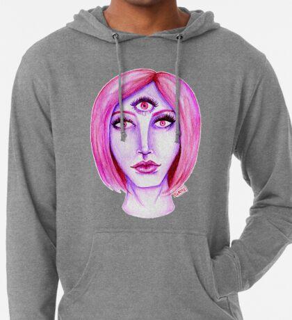 Pink Hair, Purple Skin Lightweight Hoodie