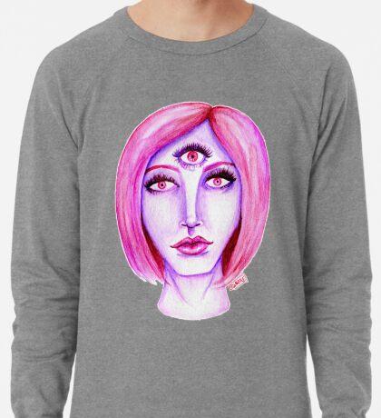 Pink Hair, Purple Skin Lightweight Sweatshirt