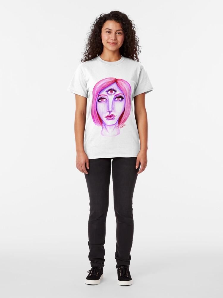 Alternate view of Pink Hair, Purple Skin Classic T-Shirt