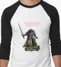Angel of Darkness - Quote & Full Colour Men's Baseball ¾ T-Shirt