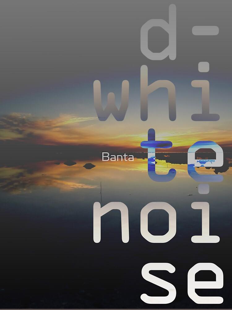 D-White Noise - sunset beach stack - merch by Banta