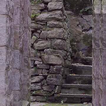 Stairs Behind The Church by netdweller
