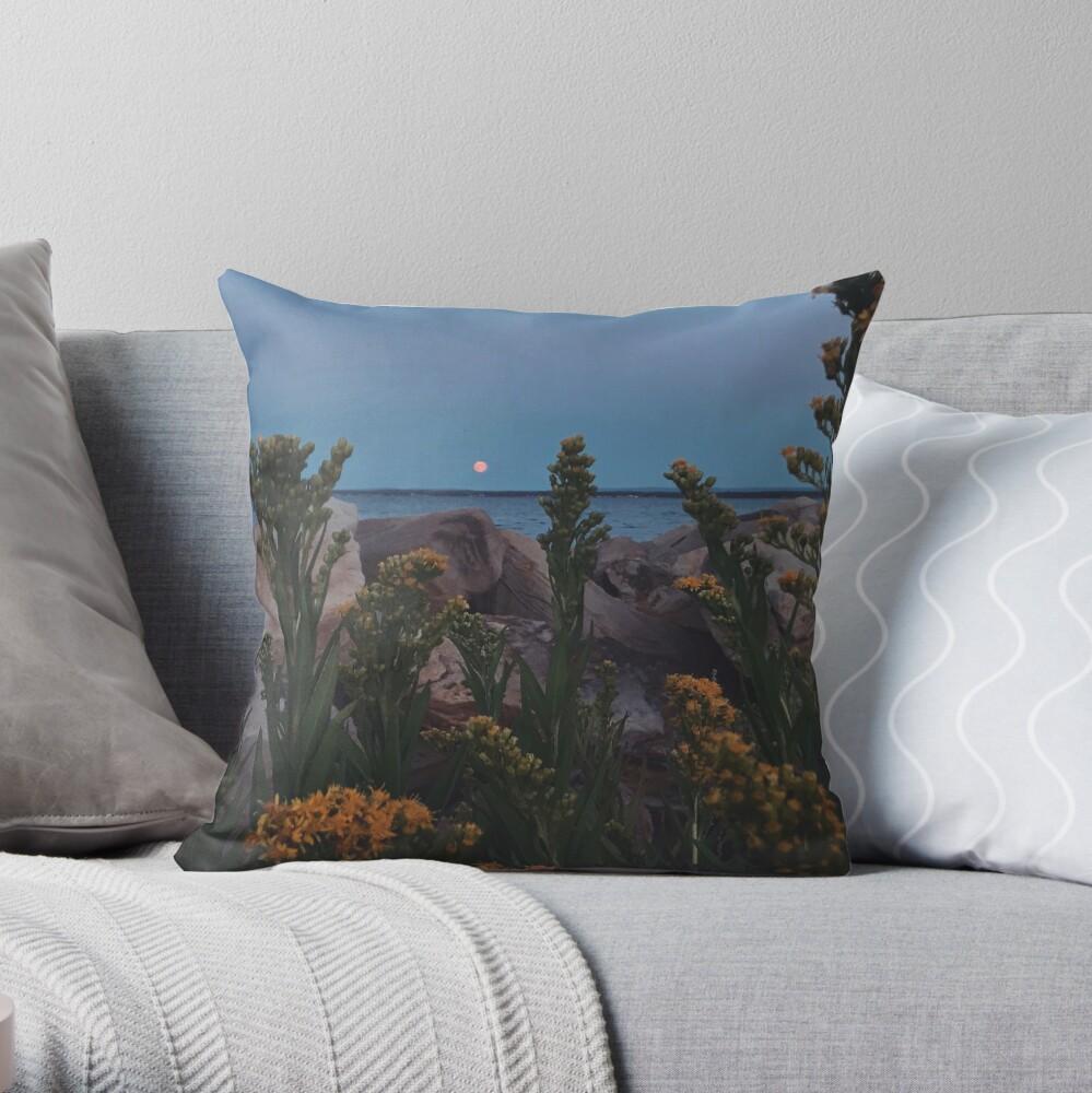 August Moonrise  Throw Pillow