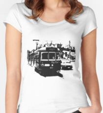 City Trams Women's Fitted Scoop T-Shirt