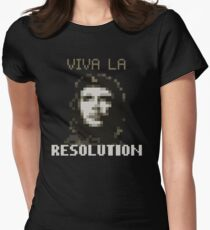 VIVA LA RESOLUTION Womens Fitted T-Shirt