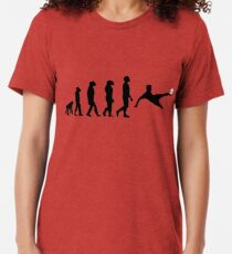 Evolution-Fußball Vintage T-Shirt