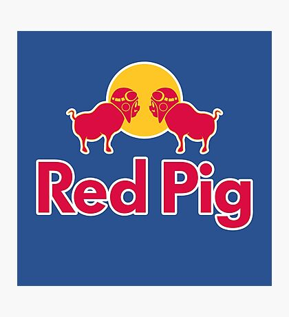 Red Pig Photographic Print
