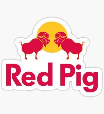 Red Pig Sticker