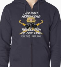 Liberate Hong Kong The Revolution of Our Times - Original Design Zipped Hoodie
