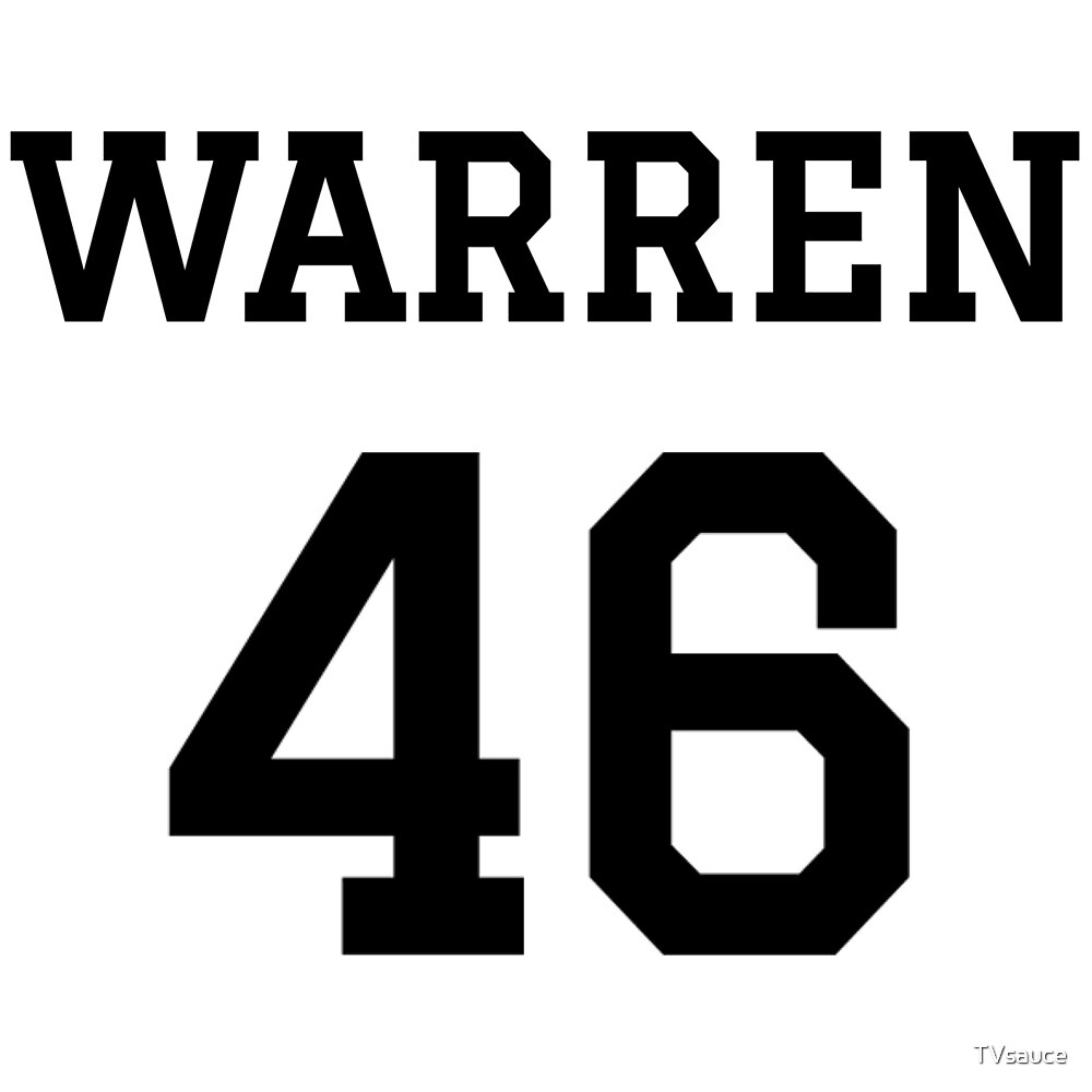 Warren #46 (for lighter color shirts) by TVsauce