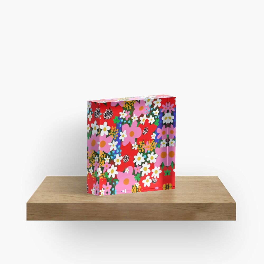 Flower Power! Acrylic Block