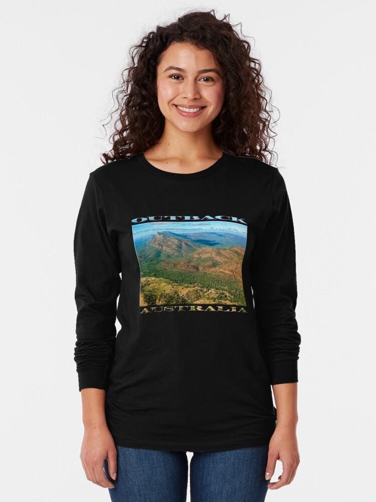 Alternate view of Rawnsley Bluff III (poster on black) Long Sleeve T-Shirt