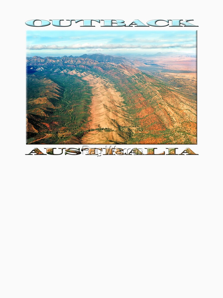 Outback Mountains (poster on white) by RayW