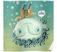 cute zombie in the water Poster