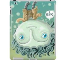 cute zombie in the water iPad Case/Skin