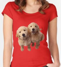 Puppies! Sale!!! Women's Fitted Scoop T-Shirt
