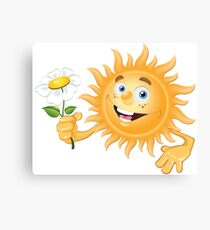 Funny sun Canvas Print