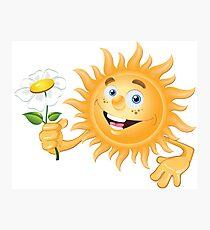 Funny sun Photographic Print