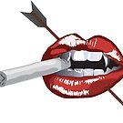 Smoking Lips by Artsworth