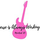 Manifest It! The Universe is Always Working for Me Pink Guitar by Jaclyn Johnston