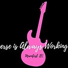 Manifest It! The Universe is Always Working for Me Black & Pink Guitar by Jaclyn Johnston