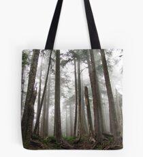 Foggy trees Tote Bag