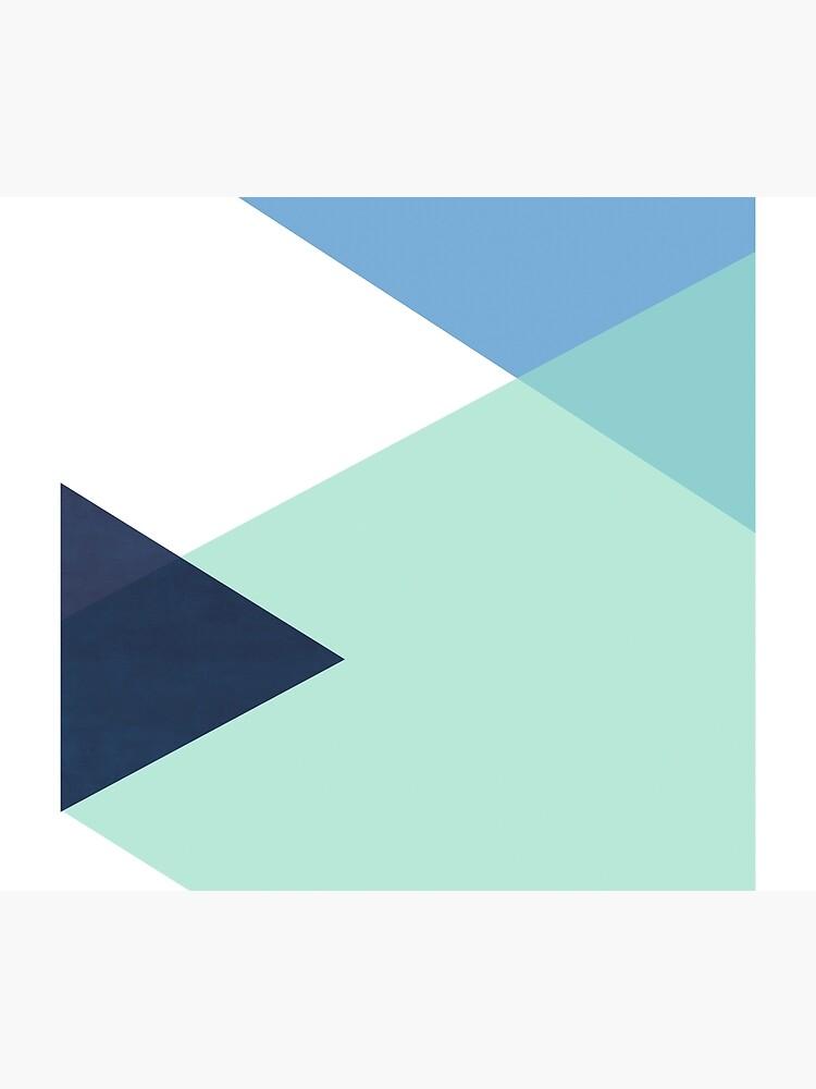 Geometrics - seafoam & blue concrete by galeswitzer
